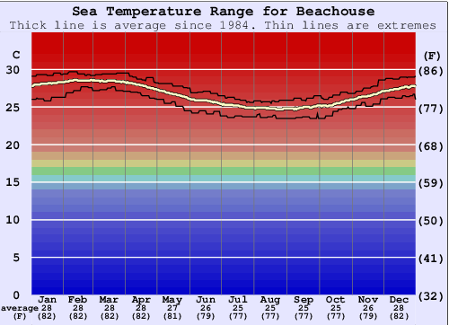 Beachouse Temperatura del mare Grafico