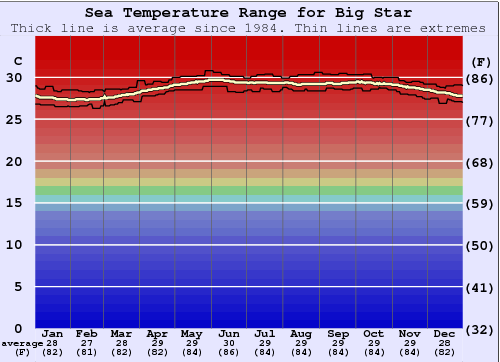Big Star Temperatura del mare Grafico